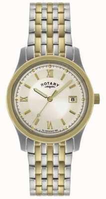 Rotary Herrenuhr Zwei-Ton-Edelstahl-Armbanduhr GBI0793/09