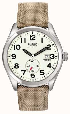 Citizen Eco-drive Herren Canvas Uhr BV1080-18A