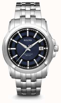 Bulova Präzisionsuhr für Herren aus blauem Silber 96B159