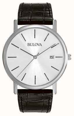 Bulova Herrenkleid silber schwarz minimalistisch 96B104
