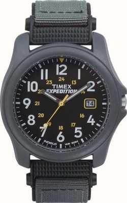 Timex Mens Expedition schwarzes Gesicht Nylonband Uhr T42571