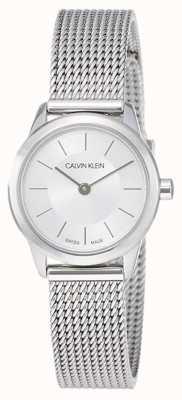 Calvin Klein Frauen 'minimal | Edelstahl-Maschenband | K3M23126