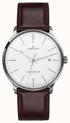 Junghans Herren Meister Chronometer braunes Lederband 027/4130.00