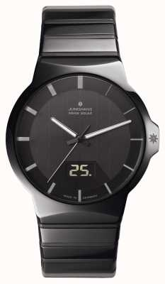 Junghans Force-Herren schwarzer Keramik Uhr 018/1133.44