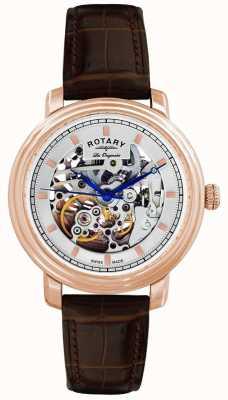 Rotary Herren Les Originales braunes Lederarmband GS90505/06 Uhr