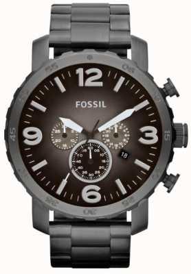 Fossil Mens nate Rauch Edelstahl Chronograph JR1437