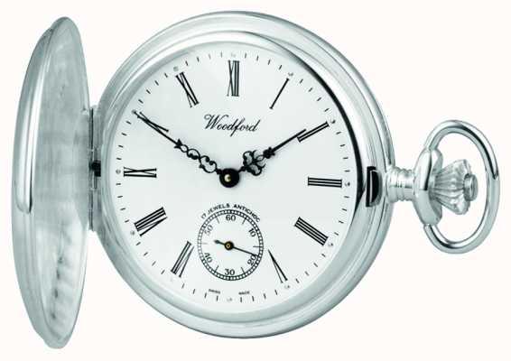 Woodford | voller Jäger Sterling Silber | Taschenuhr | 1001