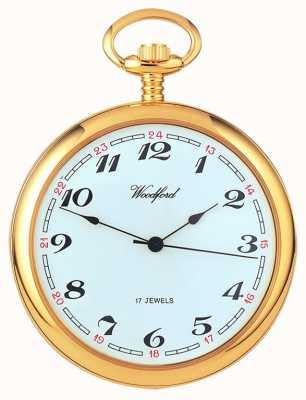 Woodford Arabisch, vergoldet, weißes Zifferblatt, mechanische Taschenuhr 1031
