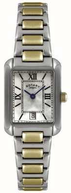 Rotary Ladies 'two-tone, Gold-Platte und Edelstahl, Zifferblatt Perlmutt Uhr LB02651/41