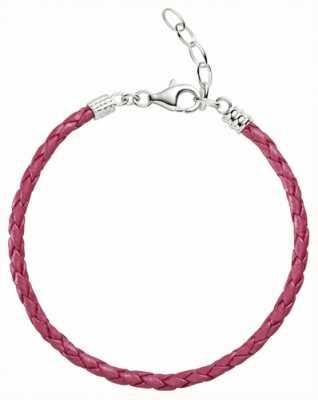 Chamilia One size pink metallic geflochtene Lederarmband 1030-0112