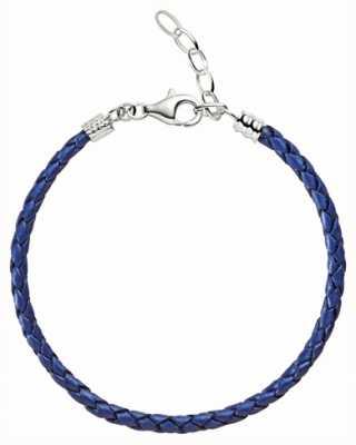 Chamilia One size blue metallic geflochtene Lederarmband 1030-0111
