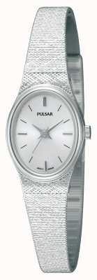 Pulsar Damen Edelstahl, Maschenarmband, Oval PK3031X1 Armbanduhr