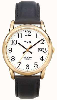 Timex Mens weiß schwarz einfache Leser Uhr T2H291