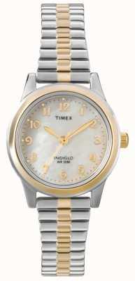 Timex Damen zwei Ton Kleid Expander Uhr T2M828