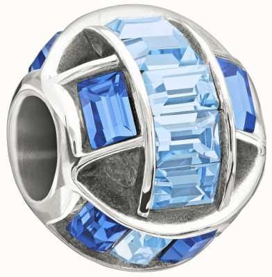 Chamilia Sterling Silber mit Stein - gebannt - blue swarovski 2083-0464