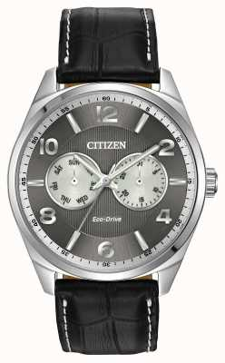 Citizen Herren Edelstahl Zifferblatt grau Uhr AO9020-17H