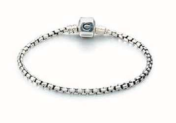 Chamilia Silber Box Kette Armband - oxidiert (20 cm/7.9 in) 1012-0117