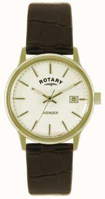 Rotary Avenger Herren Goldplatte Bügeluhr GS02876/03