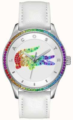 Lacoste Victoria Mehrfarben weiße Uhr 2000822