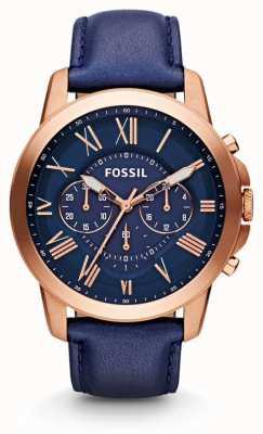 Fossil Mens gewähren Chronograph navy Uhr FS4835