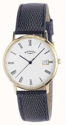 Rotary Mens 9ct Gold Fall Bügeluhr GS11476/01