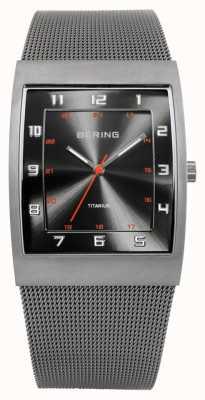 Bering Herrenuhr Edelstahl analoge Uhr des Quarzes 11233-077
