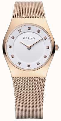 Bering Damen Edelstahl analoge Uhr des Quarzes 11927-366