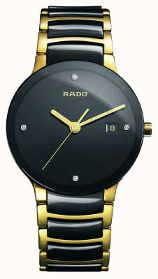 Rado | centrix diamanten | High-Tech-Keramik | schwarzes Zifferblatt | R30929712
