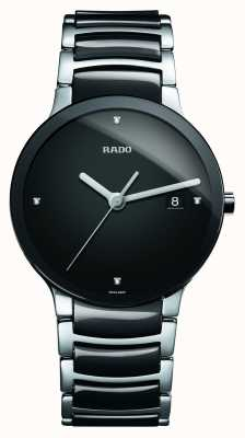 Rado | centrix diamanten | High-Tech-Keramik | schwarzes Zifferblatt | R30934712