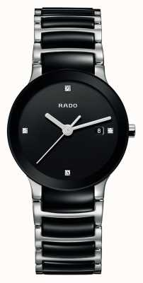 Rado | centrix diamanten | High-Tech-Keramik | schwarzes Zifferblatt | R30935712