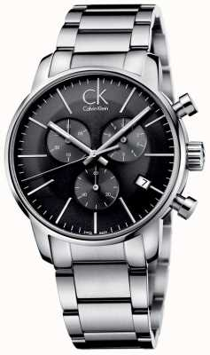 Calvin Klein Herren Stadt Edelstahl grau Zifferblatt Uhr K2G27143