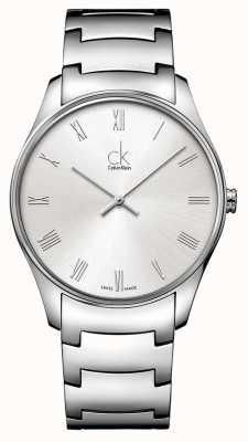 Calvin Klein Mens klassische silberne Uhr K4D2114Z