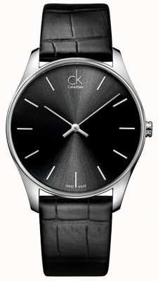 Calvin Klein Mens klassische schwarze Uhr K4D211C1