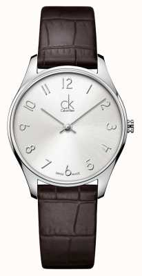 Calvin Klein Classic Leder Damenuhr K4D221G6
