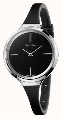Calvin Klein Ladies lebhaften schwarzen Silikonband K4U231B1