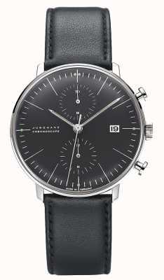 Junghans Max bill chronoscope | schwarzes Lederband 027/4601.04
