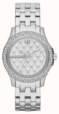 Armani Exchange Damen Smart Edelstahlarmband Kristall-Set AX5215