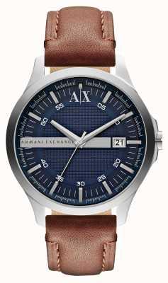 Armani Exchange Männer Datum Lederband Uhr AX2133