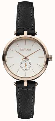Barbour Lisle schwarzes Lederarmband Uhr BB011RSBK