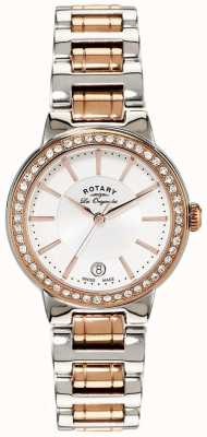Rotary Damenuhr Les originales aus Rotgold mit Stahlkristall LB90083/02
