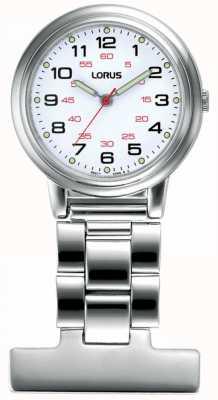 Lorus Unisex Krankenschwester Armbanduhr weißes Zifferblatt RG251CX9
