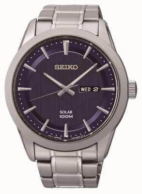 Seiko Mens solarbetriebene Uhr SNE361P1