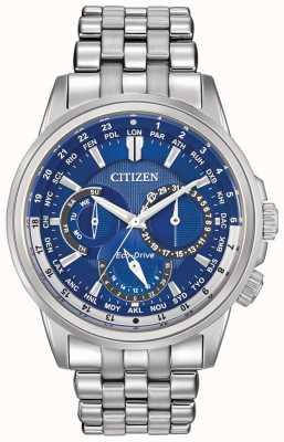 Citizen Mens calendrier Weltzeituhr Eco-Drive Uhr BU2021-51L