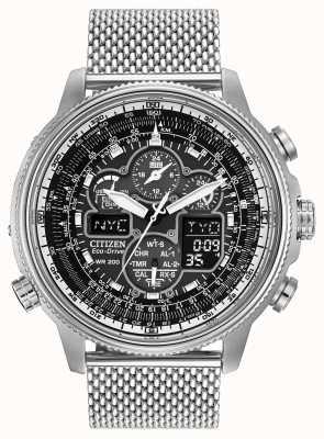 Citizen Mens navihawk bei Edelstahl Zifferblatt schwarz Uhr JY8030-83E