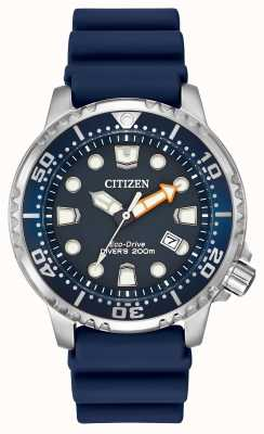 Citizen Gents blauen Gummisolarbetriebene analoge Uhr BN0151-09L
