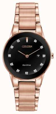Citizen Frauen Axiom Roségold vergoldet Eco-Drive GA1058-59Q