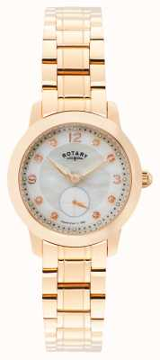 Rotary Frauen cambridge, Rotgold, Perle, Kristall LB02702/41