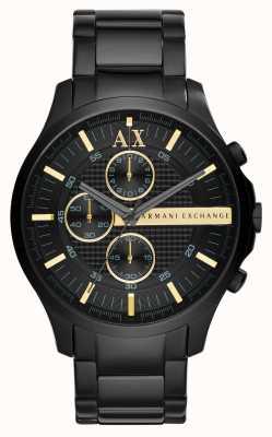 Armani Exchange Mens alle schwarz Chronograph AX2164