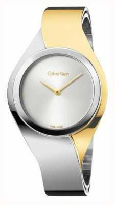 Calvin Klein Damen Sinne, zwei Ton, Gold & Stahl kleine Uhr K5N2S1Y6