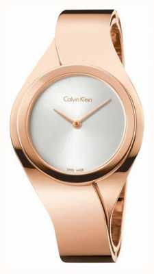 Calvin Klein Damen Edelstahl analoge Uhr des Quarzes K5N2M626